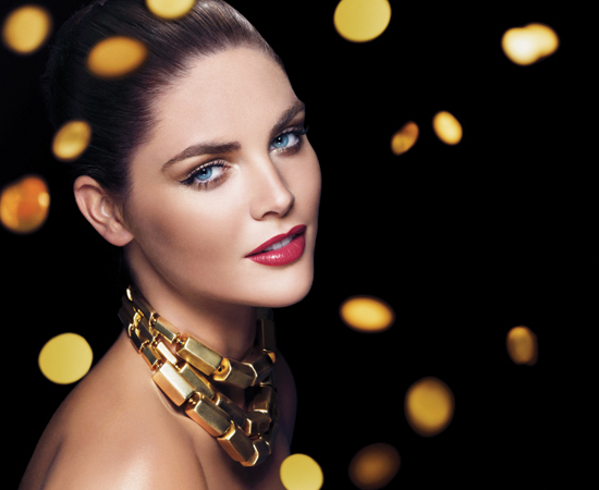 Estee Lauder Holiday 2010 Pure Color Extravagant Collection model makeup Estee Lauder Pure Color Extravagant Collection for Holiday 2010   Limited Edition