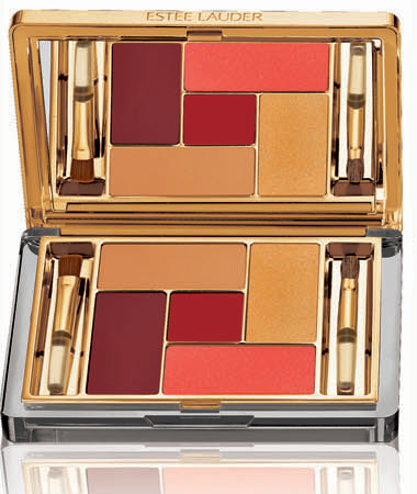 Estee Lauder Holiday 2010 Pure Color Five EyeColor Lip Palette Extravagant Gold Estee Lauder Pure Color Extravagant Collection for Holiday 2010   Limited Edition