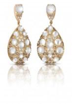 Pendientes en oro rosa con diamantes y madre perla de Pasquale Bruni
