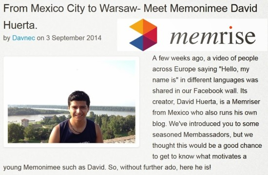Interview with Memrise