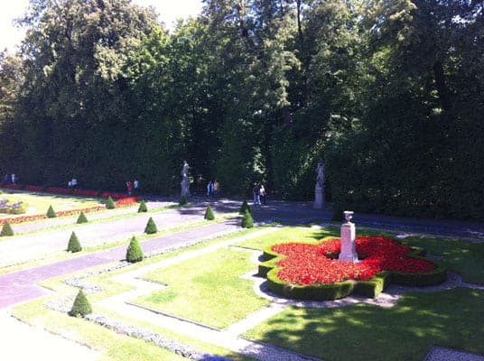 Gardens in Wilanow Palace
