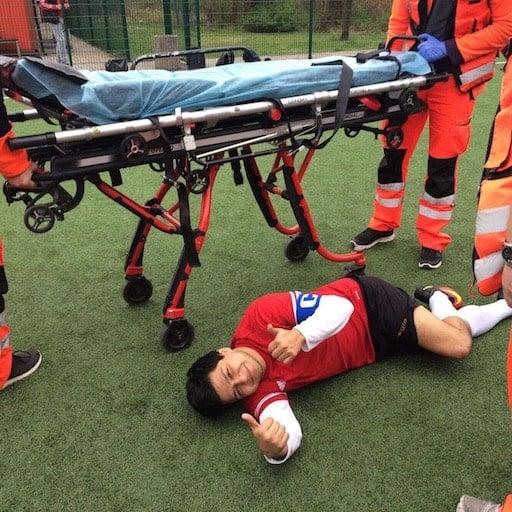 David injured