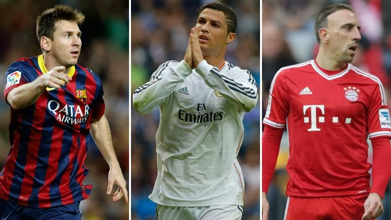 Messi, Ronaldo, Ribery named on FIFA's three-man shortlist for the Ballon d'Or