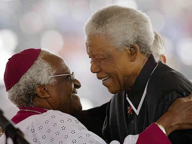 Desmond Tutu says he is 'glad Nelson Mandela is dead' 20 years after South Africa's first free elections