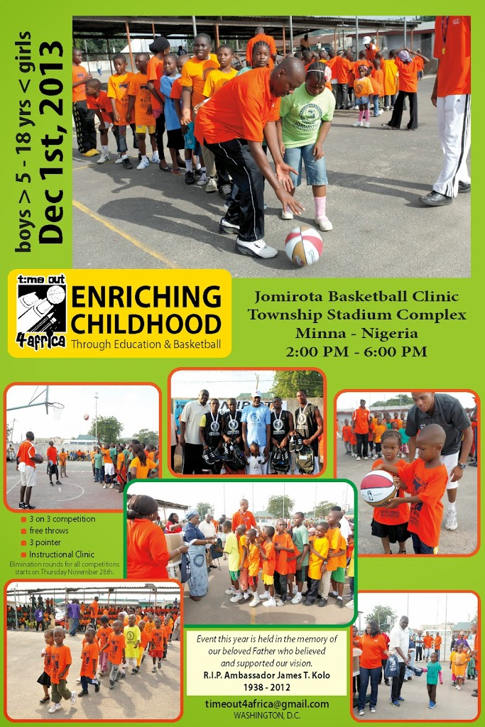 Basketball Clinic for 500 kids in Nigeria