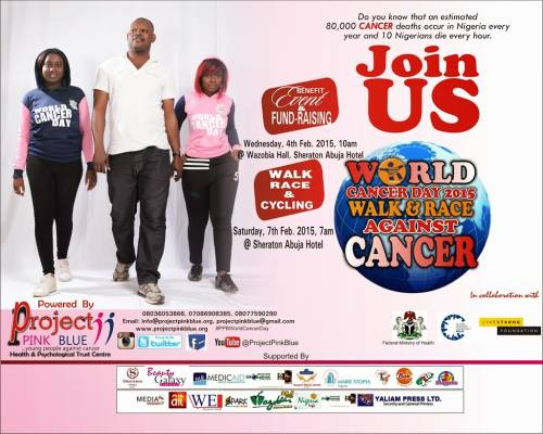 World Cancer Day 2015: Walk, Race & Cycling against cancer, Abuja, Nigeria