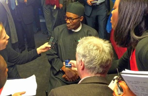 Nigeria's opposition candidate is hanging out in London and it's kind of weird