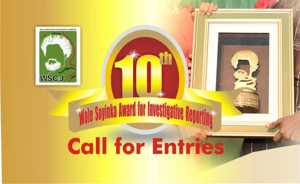 10th Wole Soyinka Award For Investigative Reporting Call For Entries Is Out