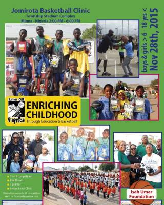Jomirota Basketball Clinic: Township Stadium Complex, Minna, Nigeria, Nov 28, 2015
