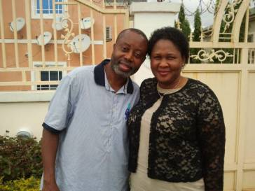 With my spouse, Sola, during a visit to Nigeria, May 2014