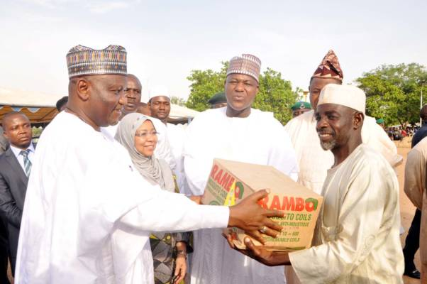 Dogara presents clothes, malaria prevention items to Abuja IDPs