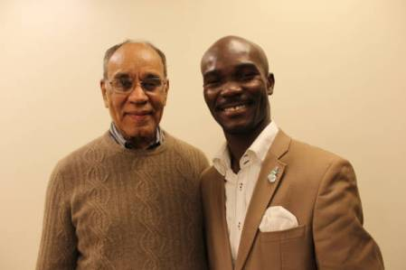 Runcie C.W. Chidebe, Executive Director of Project PINK BLUE with Dr. Harold P. Freeman, Father of Patient Navigation and Founder of Harold P. Freeman Patient Navigation Institute, New York, USA.