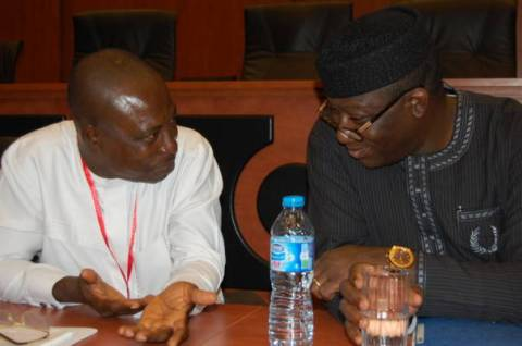 From left Professor Oshita Oshita, Director General, Institute for Peace and Conflict Resolution and Dr. Kayode Fayemi, Hon. Minister for Mines and Solid Minerals Development. Pic: IPCR