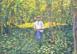 beese-Im Dickicht'Triptychon, Oe!l auf Leinwand 160 x 228 cm