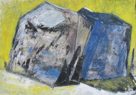 ohne Titel, 1990, Tempera auf Papier, 70 x 100 cm