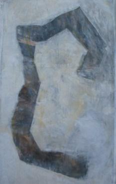 ohne Titel, 2010, Gouache auf Papier, 155 x 100 cm