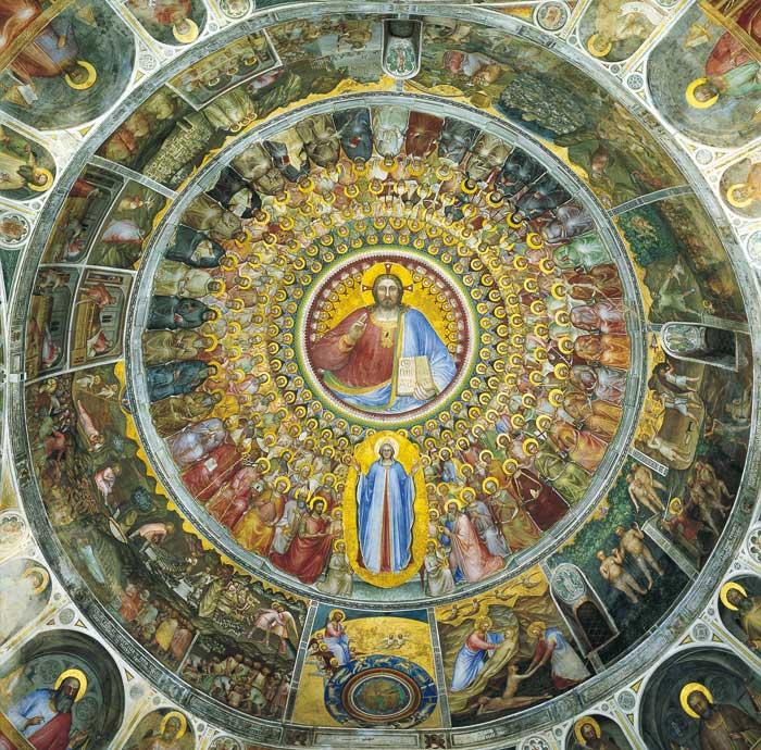 GIUSTO DE MENABUOI, Venuta finale di Cristo, Volta del Battistero del Duomo di Padova, XIV sec.<br>Per gentile concessione del Duomo di Padova.