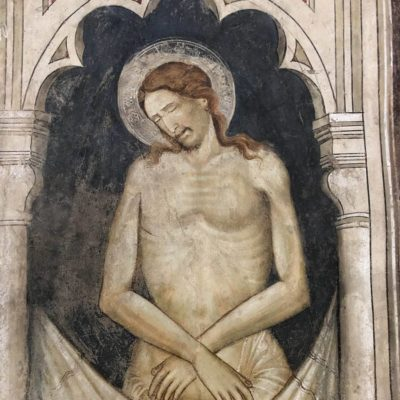 Affresco Cristo nel coro