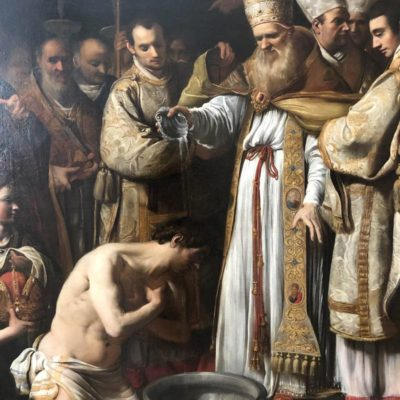 Battesimo di Costantino - tela