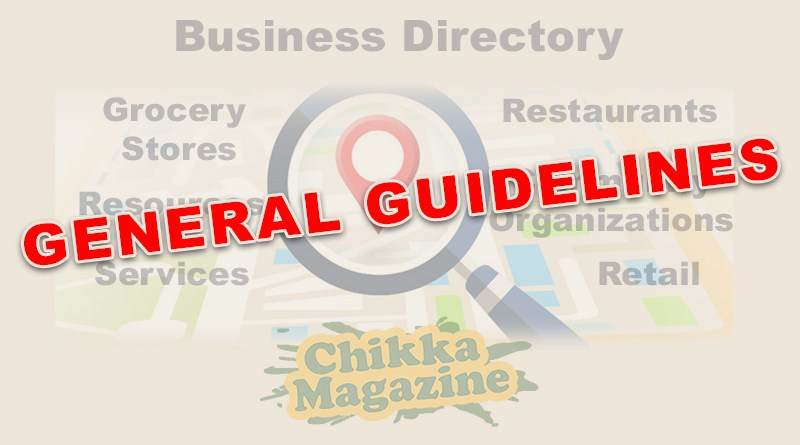 Asian Business Directory Guidelines