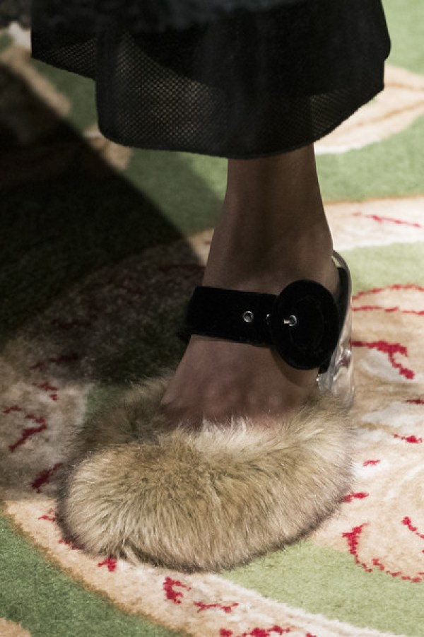 Image result for furry shoes runway 2017