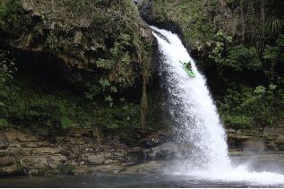 Kayaking on the Poza Azul River