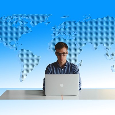 Man at laptop
