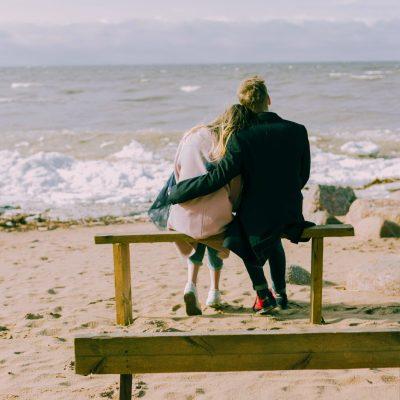 Hug on a Bench