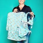 Kirsten Bille, Inhaberin von Bille Fashiontrading, mit UV-Schutz-Bekleidung von Snapper Rock