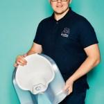 "Arthur Kowalski, Product Manager von rotho babydesign, mit Komfortkindertopf ""Top Xtra"""