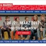 """Vom 20. bis 21.3.2017 findet in Köln der Kongress """"Kids.Teens & Marke"""" statt"""