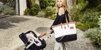 Neben Kinderwagen und Babyschale ergänzt auch eine Wickeltasche die Kollektion von Rachel Zoe