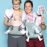 Karin Hoxter und Anna Ekman von BabyBjörn AB. Im Web unter: www.babybjorn.de – auf der Kind + Jugend 2017 beim Childhood-Business-Shooting 'My Favourite Item'