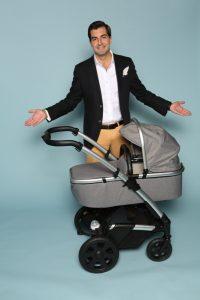 Samuel Garcia Gil von Heetee Baby Company Ltd. Im Web unter: www.hee-tee.com auf der Kind + Jugend 2017 beim Childhood-Business-Shooting 'My Favourite Item'