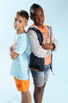 Eric und Henry mit Petrol Industries beim Childhood-Business-Shooting auf der Kids Now im Sommer 2018