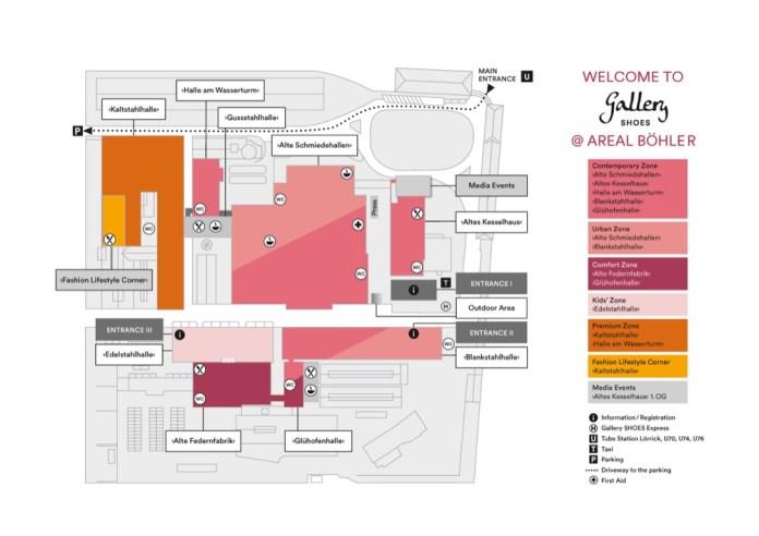 Geländeplan der Gallery Shoes im März 2019