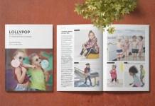 Cover und Doppelseite der Lollypop im August 2019