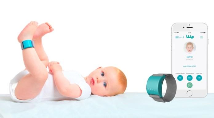 Verhilft Eltern zu einem ruhigeren Schlaf: Das Wearable von Liip zeichnet Vitalzeichen, Schlafrhythmus und Gesundheitszustand des Kindes auf.