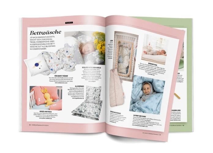 Bettwäsche in der Ausgabe 09-10 2019 von Childhood Business.