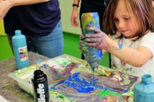 Mit viel Fleiß und Kreativität waren die Kinder bei der Arbeit ...