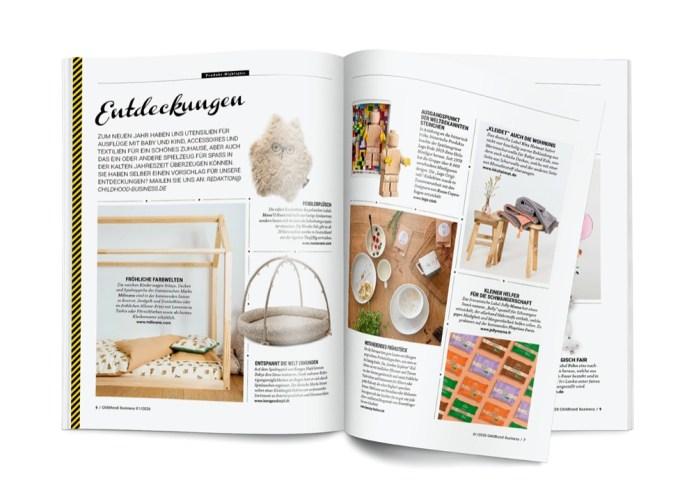 Seite 6 und 7 der Entdeckungen aus Childhood Business im Januar 2020.