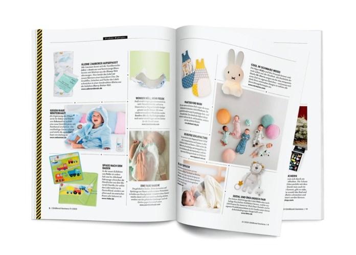 Seite 8 und 9 der Entdeckungen aus Childhood Business im Januar 2020.