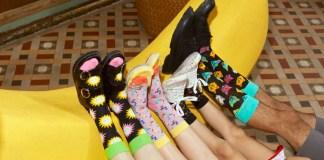 Die bunten Looks von Happy Socks sorgen für fröhliche Füße –bei der ganzen Familie.