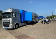 Truck der Dorel Roadshow – on the road statt auf der Messe