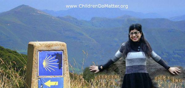 anna malafronte camino de santiago walk - children do matter