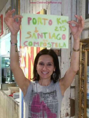 camino de santiago walk - rossella - children do matter