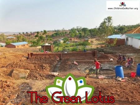 costruzione dell'orfanotrofio casa di accoglienza the green lotus a blantyre malawi - children do matter - 2