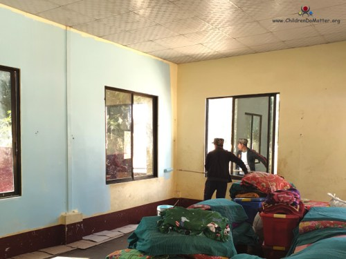 painting the walls of sasana orphange's dormitories - children do matter