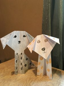 Photo.Origami dogs
