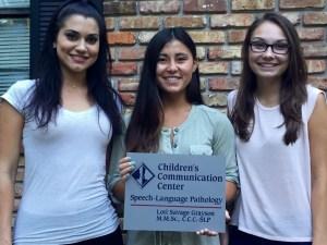 FSU Summer 2016 Volunteers: L to R: Hope, Samantha & Haley